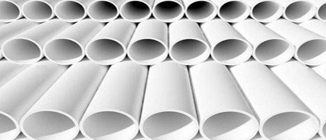 Tube blanc cylindrique